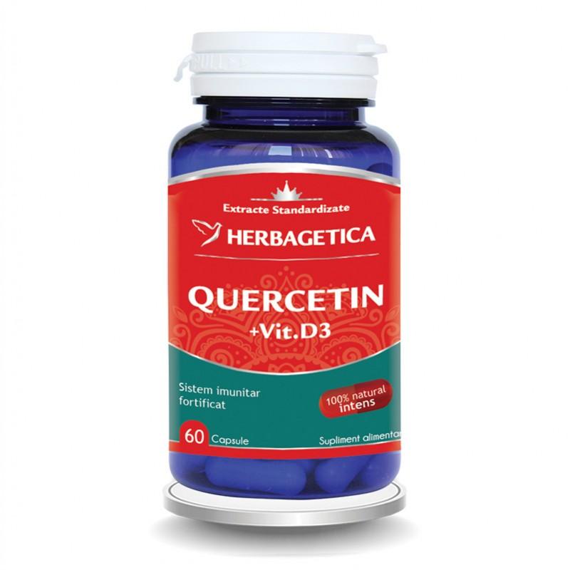 Quercetin + Vitamina D3 (60 capsule), Herbagetica