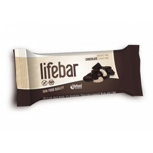 Baton cu ciocolata raw bio (47g), Lifebar