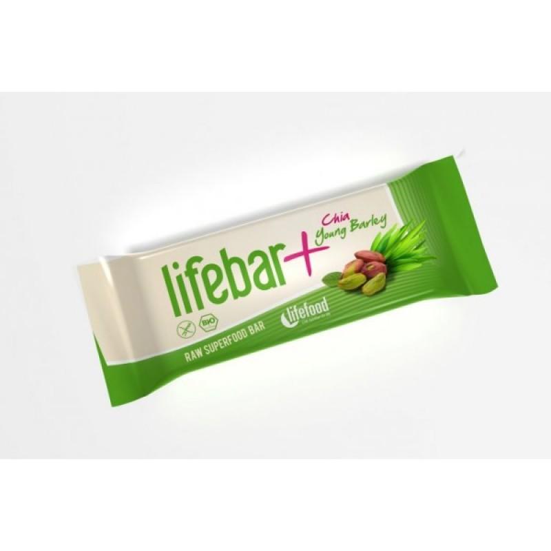 Baton cu chia si orz verde raw bio (47g), Lifebar