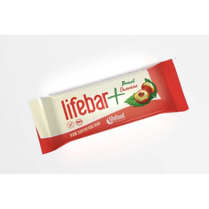 Baton cu nuci braziliene si guarana raw bio (47g), Lifefood