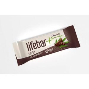 Baton cu proteine si ciocolata raw bio (47g), Lifefood