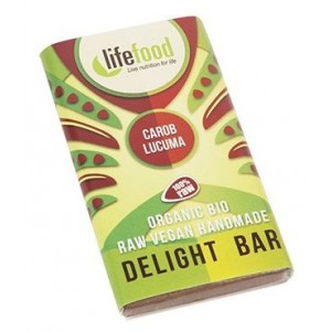 Ciocolata MINI cu lucuma si carob raw bio (15 grame), Lifefood