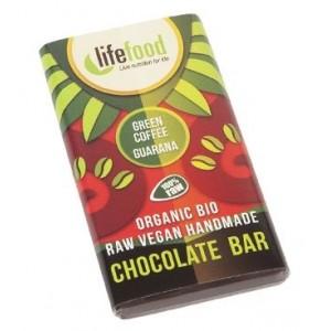 Ciocolata mini cu guarana si cafea verde raw bio (15g), Lifefood