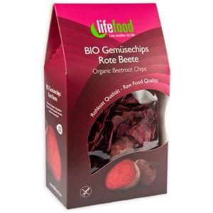 Chips din sfecla rosie raw bio (60g), Lifefood