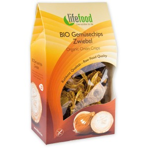 Chips din ceapa raw bio (60g), Lifefood