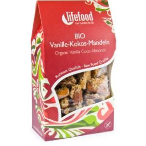 Migdale cu cocos si vanilie raw bio (90g), Lifefood