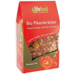 Crackers cu chilli si rosii raw bio (90g), Lifefood