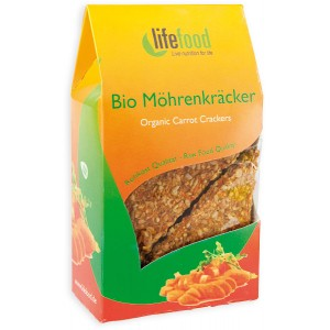 Crackers cu morcovi raw bio (85g), Lifefood