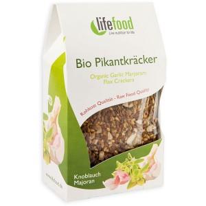 Crackers cu usturoi si maghiran raw bio (90g), Lifefood