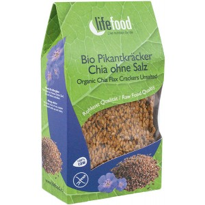 Crackers cu chia raw bio (90 grame), Lifefood