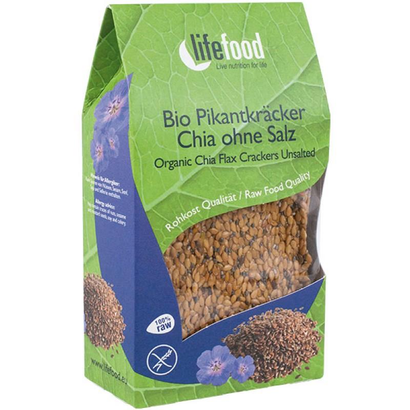 Crackers cu chia raw bio (90 grame), Lifefood