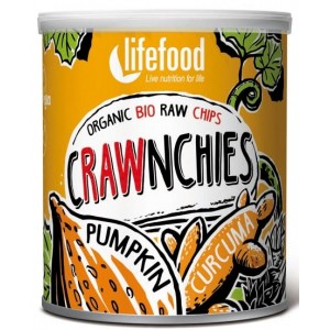 Chips Crawnchies cu dovleac si turmeric raw bio (30 grame), Lifefood