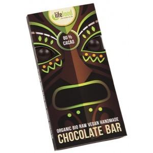 Ciocolata cu 80% cacao raw bio (70 grame), Lifefood