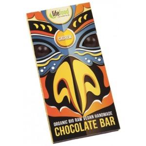 Ciocolata cu nuci caju raw bio (70 grame), Lifefood