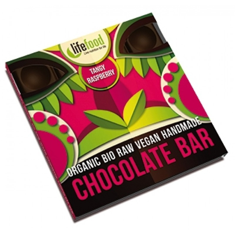 Ciocolata cu zmeura raw bio (35 grame), Lifefood