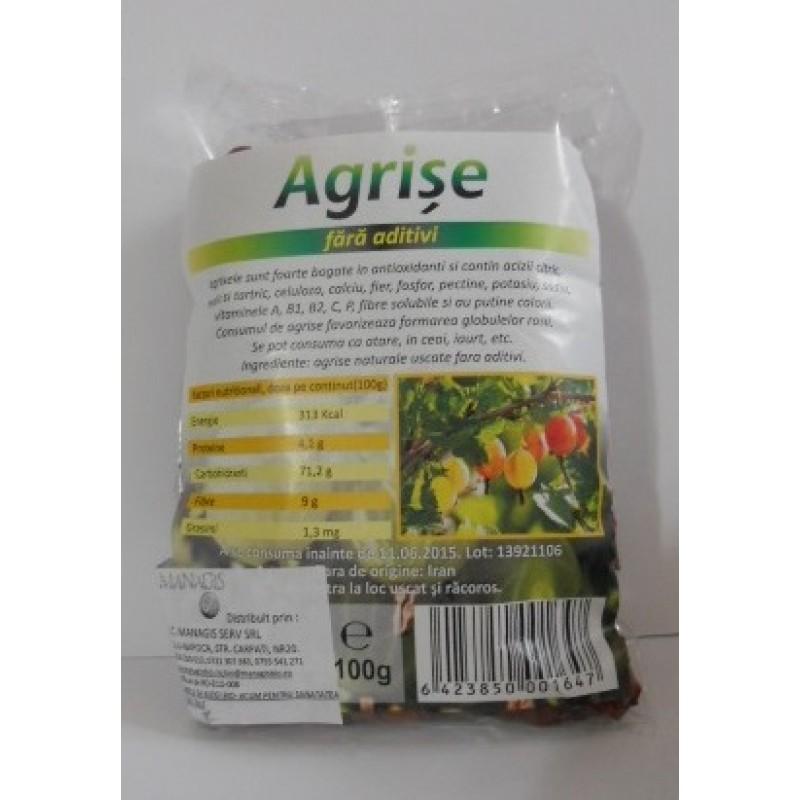 Agrise natur, fara aditivi (100 grame), Deco Italia
