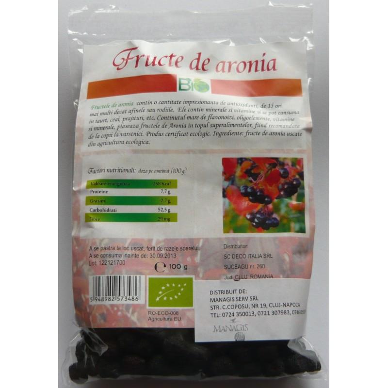 Fructe de Aronia (100 grame), Deco Italia