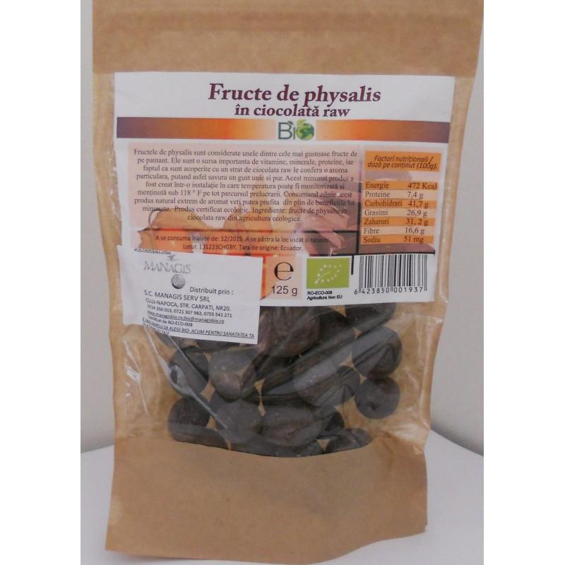 Fructe de Physalis bio in ciocolata organica (125g), Deco Italia