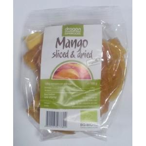 Mango uscat felii bio (100g), Dragon Superfoods