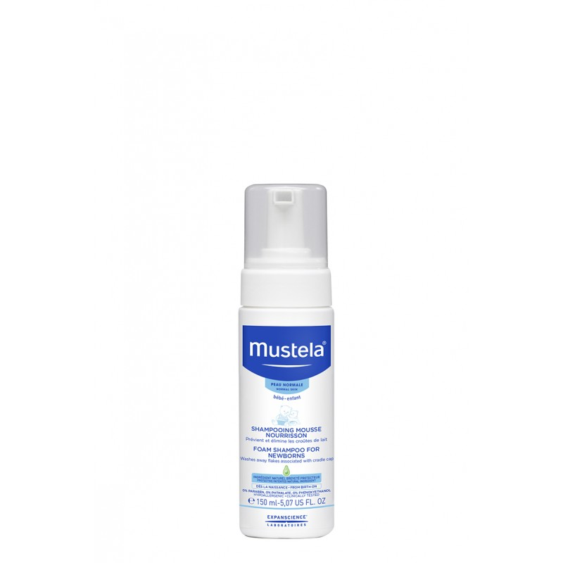 Sampon spuma pentru nou nascuti (150ml), Mustela