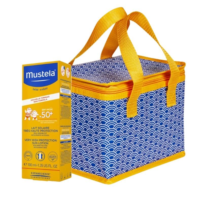 Pachet Lotiune Protectie Solara Foarte Ridicata SPF 50+ (100 ml) + Gentuta termoizolanta, Mustela