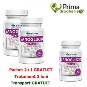 Pachet 2+1 Gratuit Sanoglucid Forte ( 3 x 60 capsule), Mitiasmed