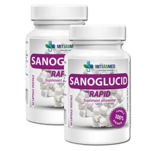 Pachet 2 x Sanoglucid Rapid ( 60 capsule), Mitiasmed