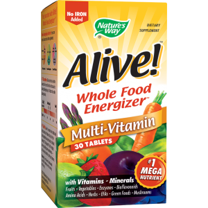 Alive, Fara Fier (30 tablete), Nature's Way