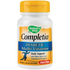 Completia Diabetic Multivitamin (fara fier) (30 tablete), Nature's Way