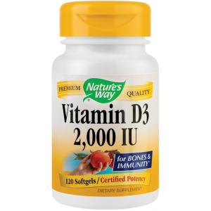 Vitamin D3 2000UI (120 capsule), Nature's Way