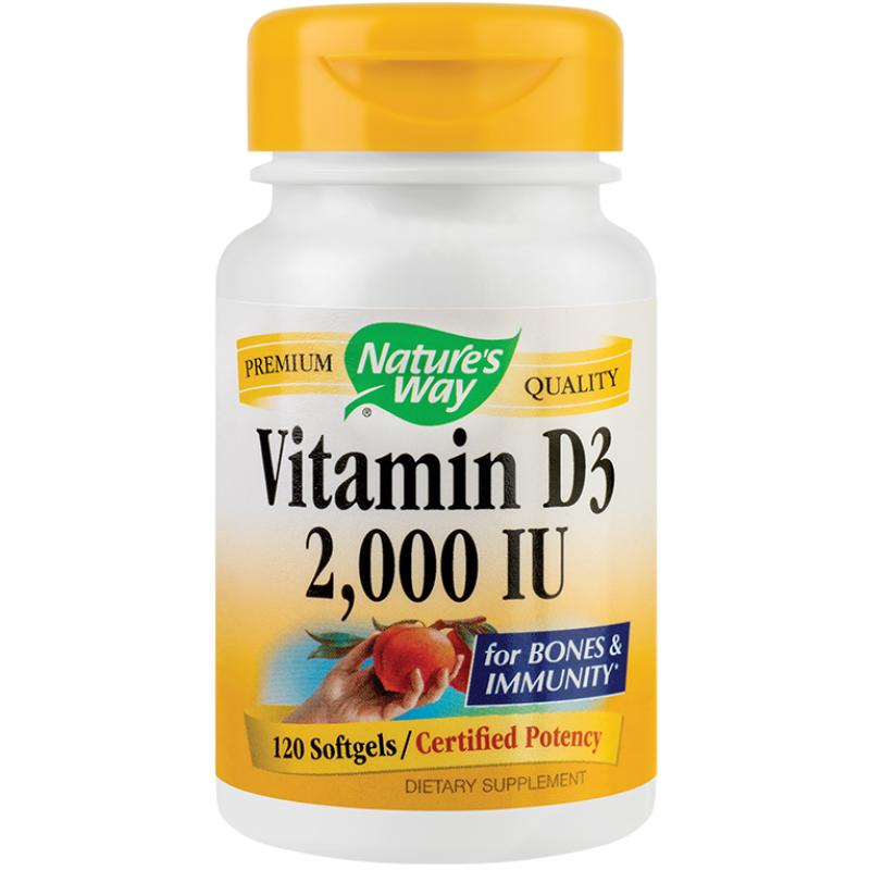 Vitamin D3 2000UI (120 capsule), Nature's Way
