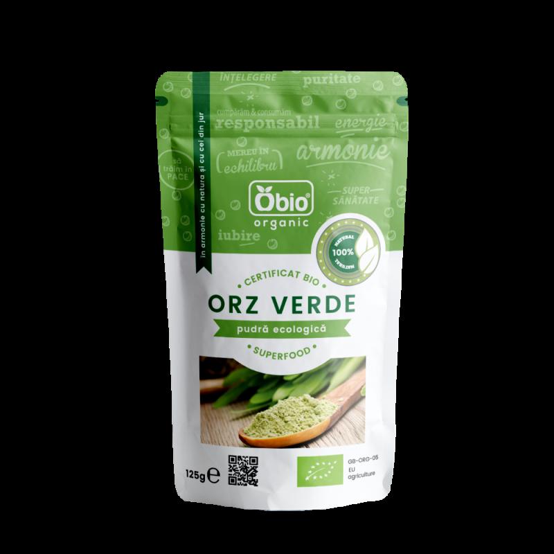 Pulbere de orz verde raw bio (125g), Obio