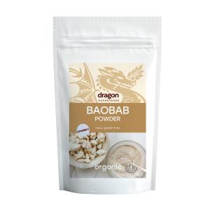Baobab pulbere raw bio (100 grame), Dragon Superfoods