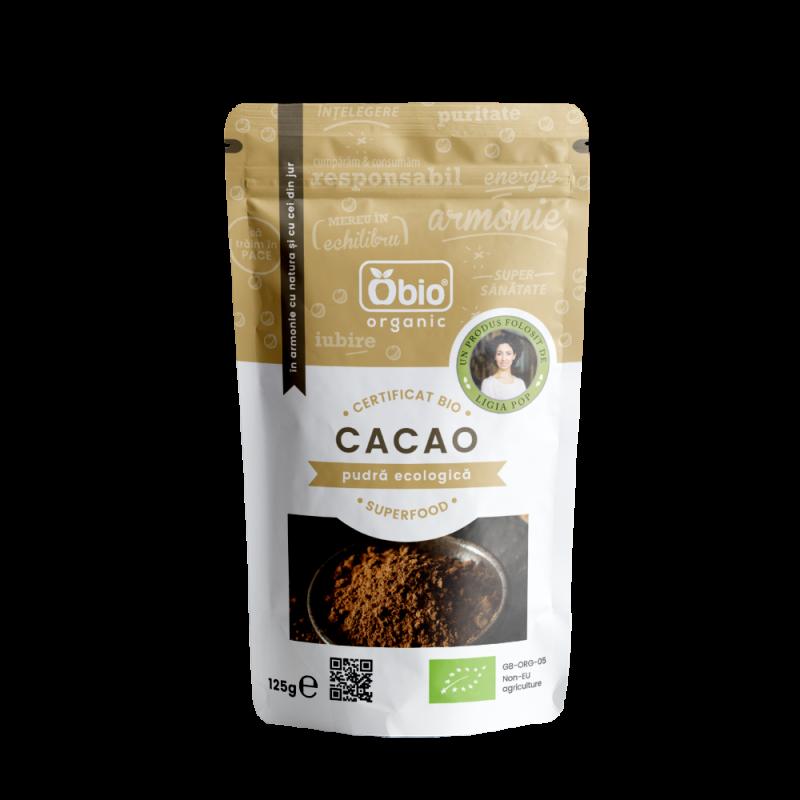 Cacao pudra raw bio (125g), Obio