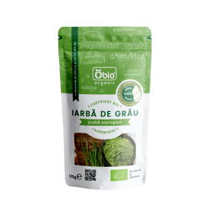 Iarba de grau pulbere raw bio (125g), Obio