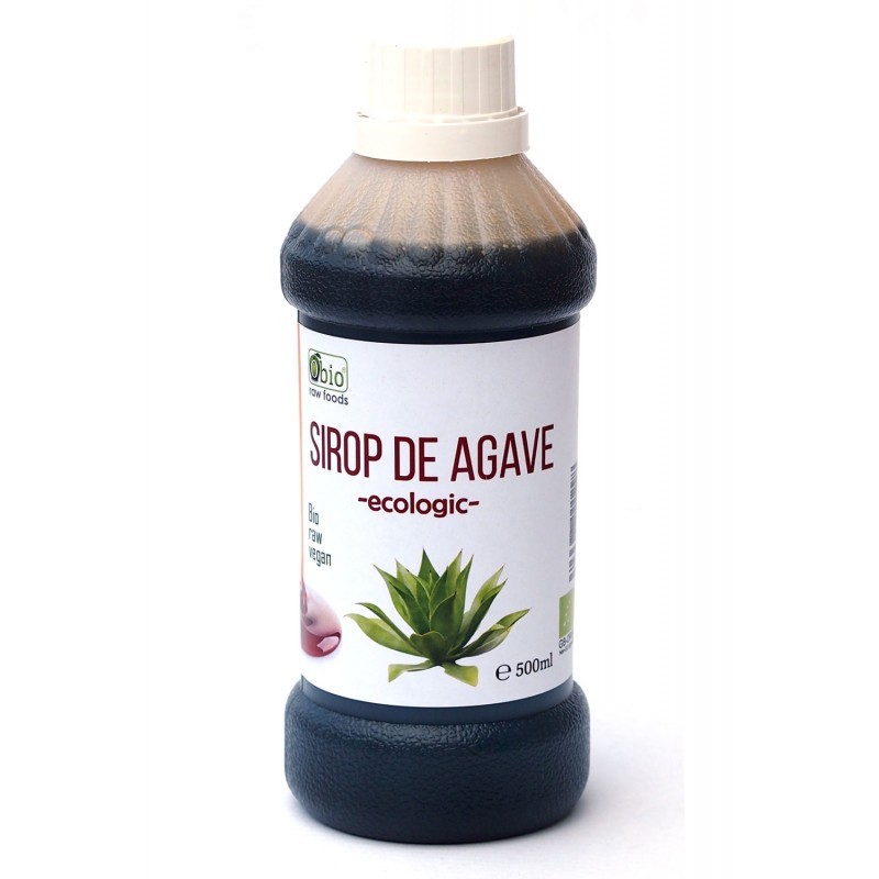 Sirop de agave brun (dark) raw bio (500ml), Obio