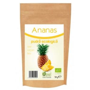 Ananas pudra bio (50 grame), Obio