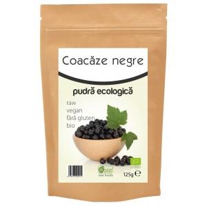 Coacaze negre pudra bio (125 grame), Obio