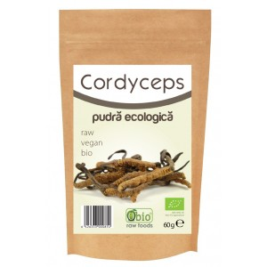 Cordyceps pulbere raw bio (60 grame), Obio