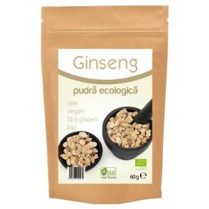 Ginseng pudra bio (60 grame), Obio
