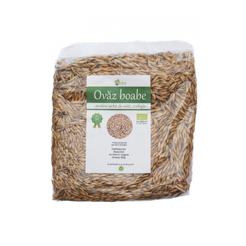 Ovaz boabe pentru iarba de ovaz bio (500g), Obio