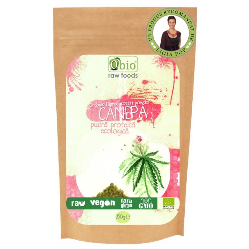 Proteina de canepa raw bio (250g), Obio
