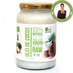 Ulei de cocos virgin raw bio (1400 gr), Obio