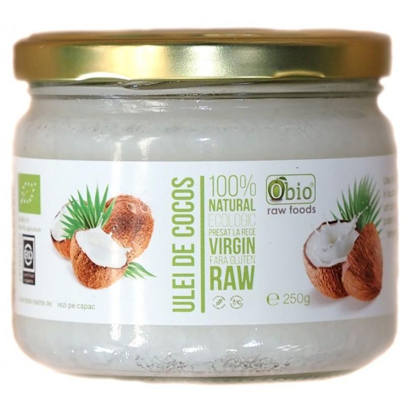 Ulei de cocos virgin raw bio (250 gr), Obio