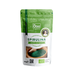 Spirulina pulbere raw bio China (250g), Obio