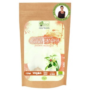 Ashwagandha pulbere raw bio (125g), Obio