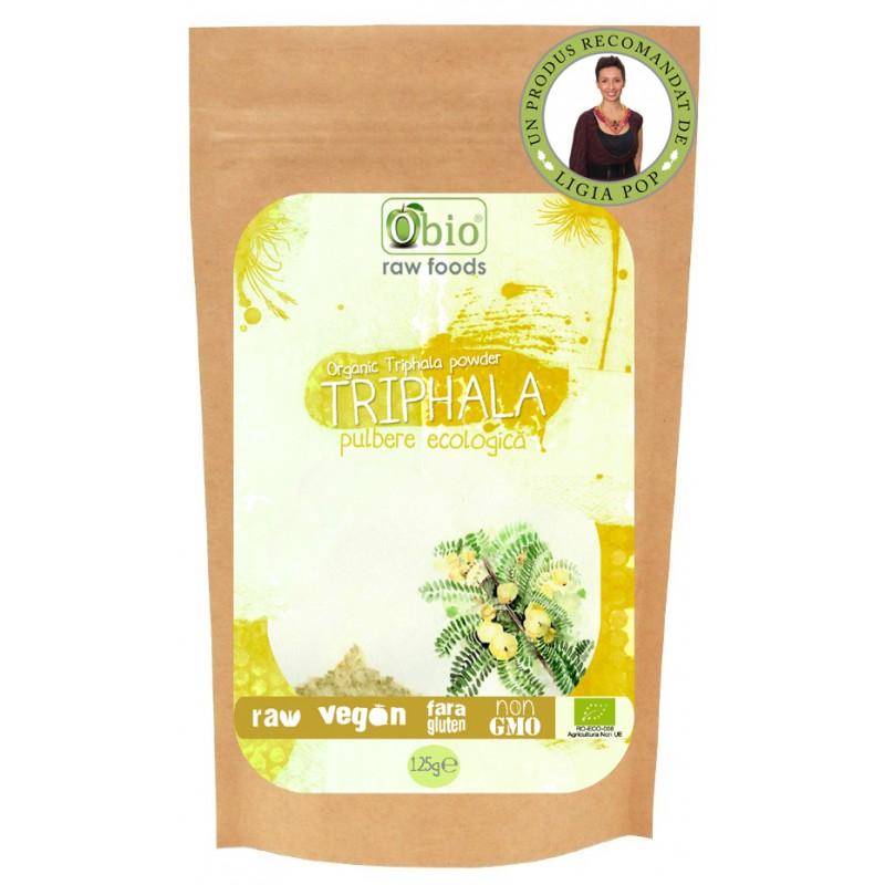 Triphala pulbere raw bio (125g), Obio