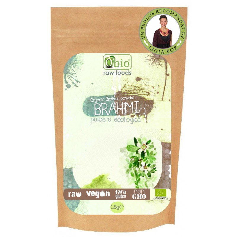 Brahmi pulbere raw bio (125g), Obio