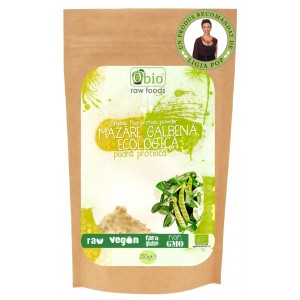 Pudra proteica din mazare galbena bio (250 g), Obio