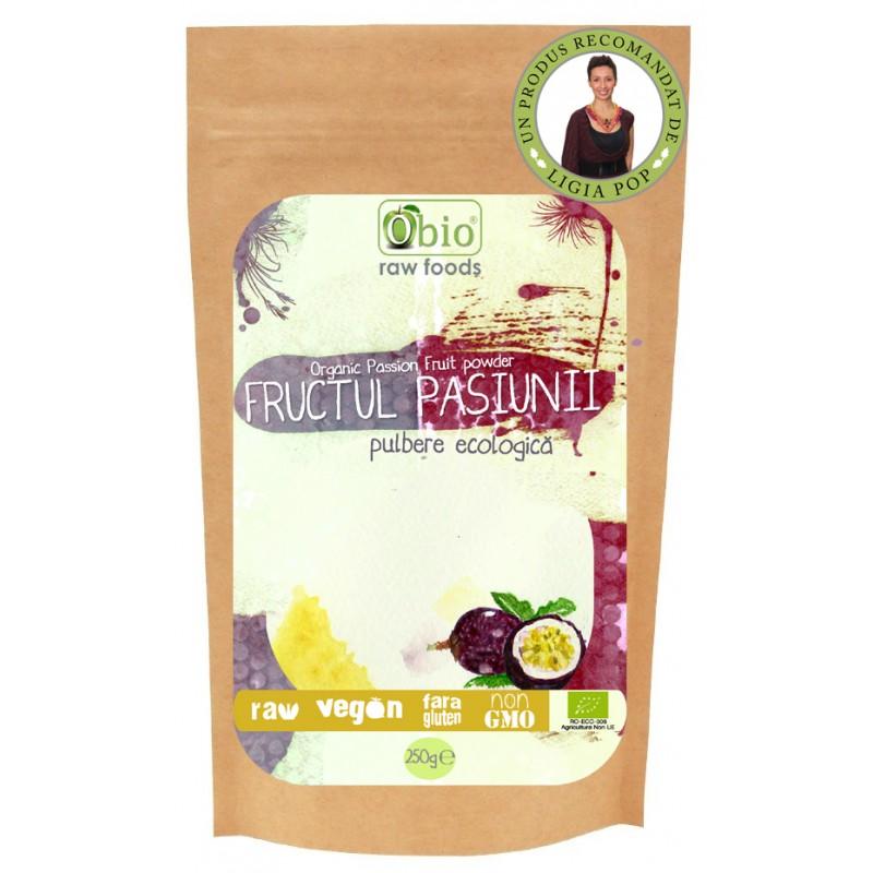 Fructul pasiunii (maracuja) pulbere raw (125g), Obio